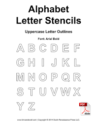 free alphabet letter stencils for kids printable alphabet templates