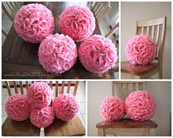 pomander balls 10 inch and 12 inch pink wedding pomanders flower