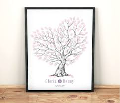 purple guest book heart fingerprint tree wedding tree guest book purple wedding