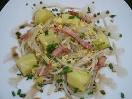 cuisiner le soja frais salade au soja et lardons poétiquement gourmande