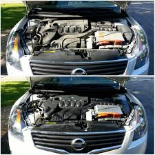 nissan altima check engine light 2009 nissan altima hybrid engine bay detail service before and