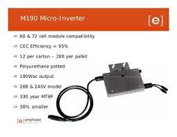 enphase energy m190 enphase micro inverter solar micro inverter