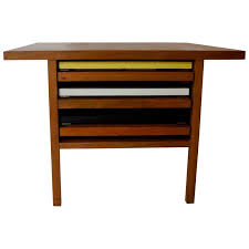 Folding Side Table Mid Century Keal Coffee Table With Three Folding