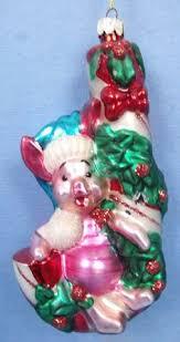 pinocchio blue 4 blown glass ornament disney