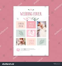 wedding booklet templates vector wedding template cover booklet cover stock vector 409374748