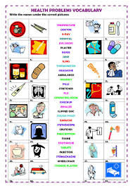 Esl Vocabulary Worksheets 42 Free Esl Health Problems Worksheets