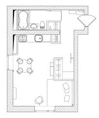 floor plan of studio apartment vibrant colors enhance appeal of small studio apartment