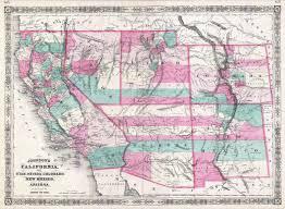 Maps Of Colorado by File 1866 Johnson Map Of California Colorado Arizona New Mexico