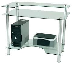 innovex glass computer desk black innovex glass computer desk full image for tier one designs clear