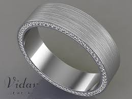 mens wedding bands with diamonds comfort fit diamond mens wedding band vidar jewelry unique