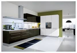 Contemporary White Kitchen Designs by Beautiful Modern Kitchen Green Design With Pendant Light And Decor