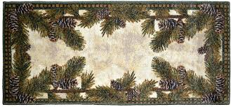 Brumlow Mills by Amazon Com Washable Non Skid Pine Cone Kitchen Mat Rug 20