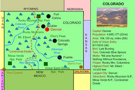 colorado interactive map facts statistics and activities