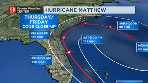 Florida Weather Map Hurricane Matthew Wednesday U0027s Timeline Wftv