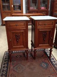 marble top bedside table pair french marble top bedside cabinets french antiques melbourne
