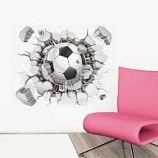 amazon com soccer ball football broken 3d decorative peel vinyl