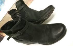 ugg womens shoes ebay ugg womens indra leather wedge buckle booties 8 ebay