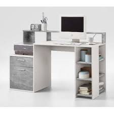 grey desk with drawers grey desks wayfair co uk
