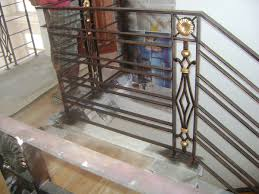 Iron Grill Design For Stairs Modern Stair Railing Design Cavitetrail Glass Railings