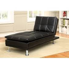 faux leather chaise lounge chairs you u0027ll love wayfair