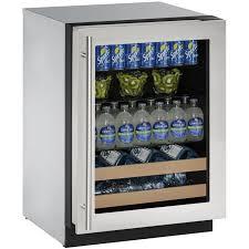 Glass Door Beverage Refrigerator For Home by U Line 2224bevs 00b 24