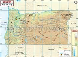 map of oregon physical map of oregon oregon physical map