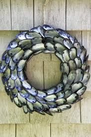 How To Make Wreaths Diy How To Make A Coastal Inspired Shell Wreath Made Using