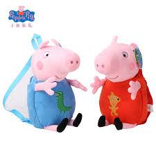 Peppa Pig Plush Original Peppa Pig Plush Toys Boys Kawaii Bag Backpack
