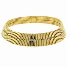 collar gold necklace images Bulgari tubogas wide gold collar necklace at 1stdibs jpg
