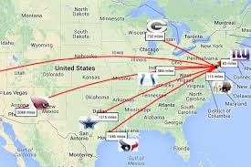 Tennessee On A Map by Nfl Schedule 2014 Philadelphia Eagles Travel Map Covers 17 566