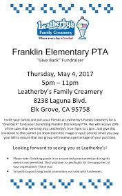 pta meeting invitation dno coming may 4 at leatherby u0027s franklin elementary
