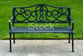 iron park benches wrought iron park bench photo spiderpic royalty free stock photos
