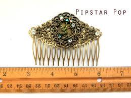 vintage comb humming bird filigree hair comb hair jewelry bronze baroque