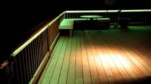 Low Voltage Outdoor Deck Lighting by Led Deck Lighting Youtube