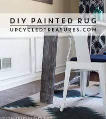 Leftover Carpet Into Rug Diy Painted Rug Mountainmodernlife Com