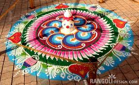 rangoli decoration 10 diwali rangoli design by kannan tanjorearts image fullimage
