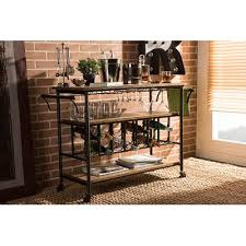 wood and metal sofa table black metal and distressed wood kitchen bar cart rc willey