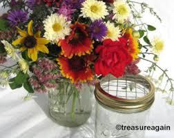 Mason Jar Flower Centerpieces Mason Jar Flowers Etsy