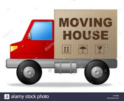 moving house meaning change of address and buy new home stock