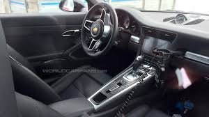 porsche 911 facelift porsche 911 turbo s facelift spied inside and out