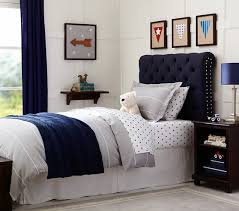 Childrens Bed Headboards Chesterfield Upholstered Bed U0026 Headboard Pottery Barn Kids