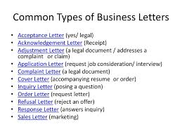 Business Correspondence Letter by Ten Types Of Business Letter Images Examples Writing Letter