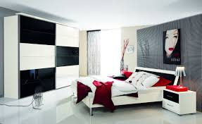 bedroom wallpaper high definition black white and red bedroom