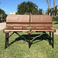 Portable Sports Bench Ramkoh 4 Foot Portable Bench Sports Camping Chairs Foldable With