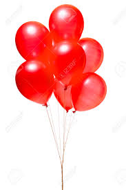 red balloons isolated on white stock photo picture and royalty