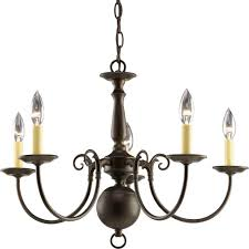 5 light bronze chandelier progress lighting americana collection 5 light antique bronze