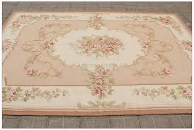 8x10 shabby french chic aubusson rug light pink ivory cream subtle