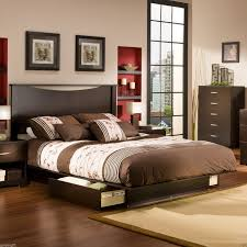 bed frame with drawers rta cabinets modern kitchen laminate h
