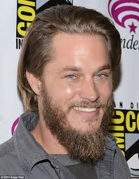 what is going on with travis fimmels hair in vikings former calvin klein model travis fimmel grows a grizzly beard for