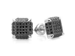 mens black diamond earrings black diamond earrings men the special black diamond earrings